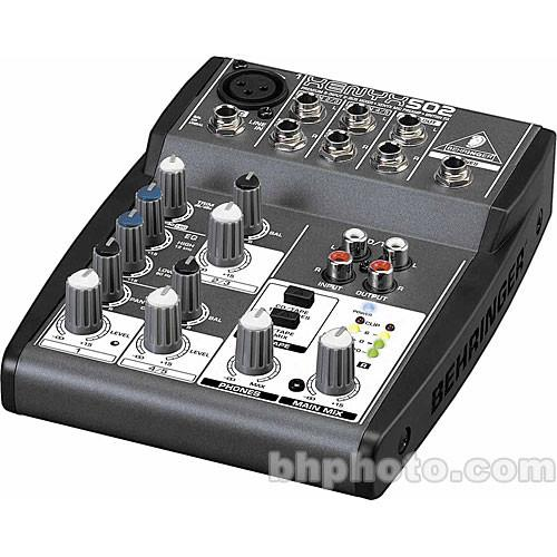 Behringer XENYX 502 5-Channel Compact Audio Mixer with Bag Kit