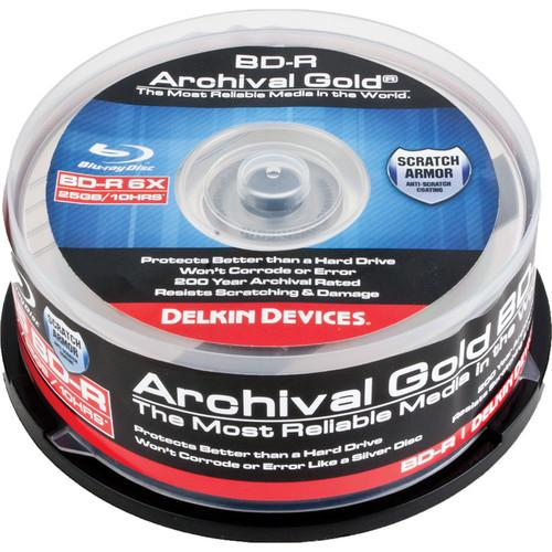 Delkin Devices Blu-ray 200 Year Disc - 25PC DDBD-R/25 SPIN 6X