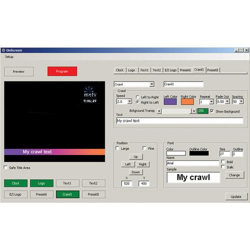 Deyan Automation Systems OnScreen with GPI Support ONSCREENGPI