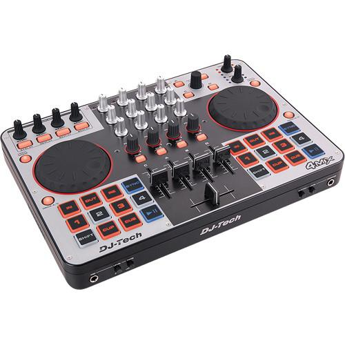 DJ-Tech 4MIX 4-Channel Controller with Audio Interface 4MIX