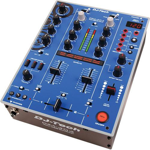 DJ-Tech DJM-303 Twin USB DJ Mixer (Blue) DJM303BLUEEDITION