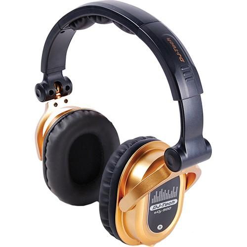 DJ-Tech eDJ-500 Professional Headphones (Gold) EDJ500GOLD