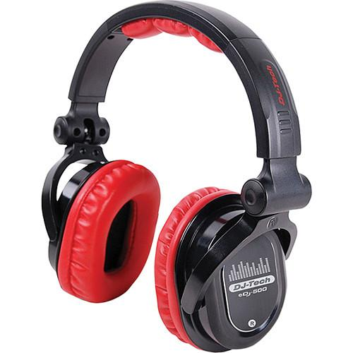 DJ-Tech eDJ-500 Professional Headphones (Red) EDJ500RED