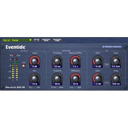 Eventide 2016 Stereo Room Plug-In 2016 STEREO ROOM