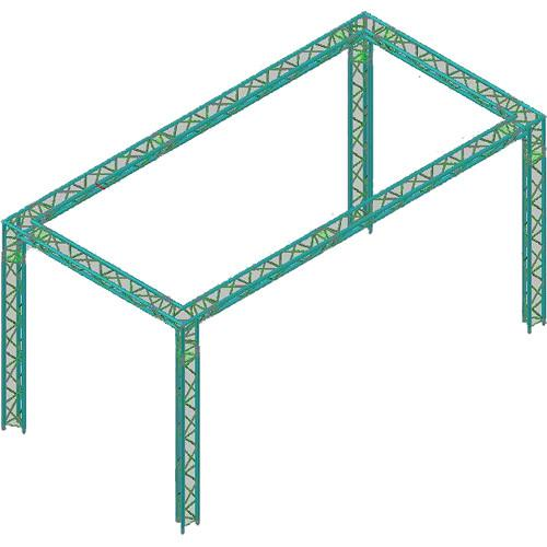 Global Truss Global Truss TR-10x20 Triangular Booth TR-10X20