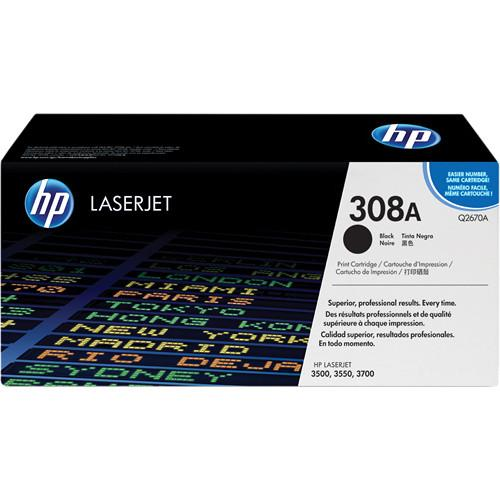 HP  HP 308A Black LaserJet Toner Cartridge Q2670A
