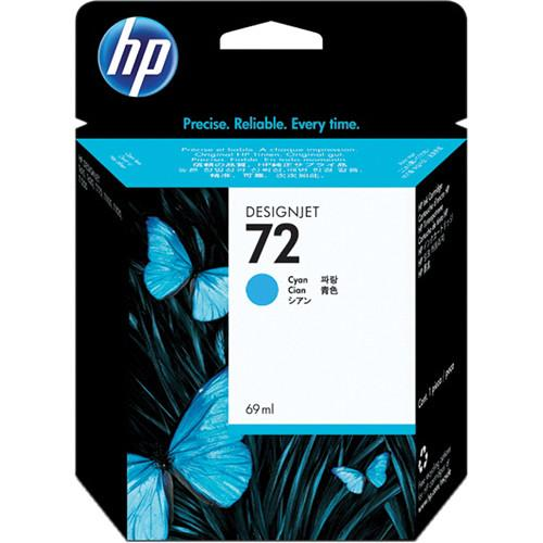 HP  HP 72 Cyan Ink Cartridge (69 ml) C9398A