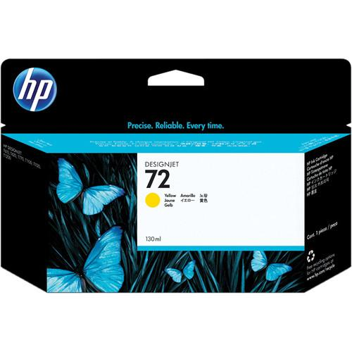 HP  HP 72 Yellow Ink Cartridge (130 ml) C9373A