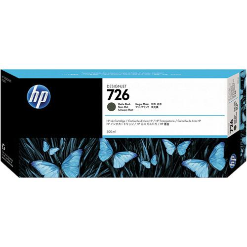 HP HP 726 Matte Black Designjet Ink Cartridge (300ml) CH575A