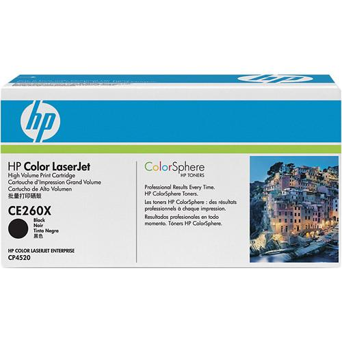 HP HP Color LaserJet Black Toner Cartridge CE260X