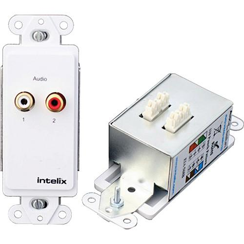 Intelix Stereo Audio Wallplate Balun AVO-A2-WP110