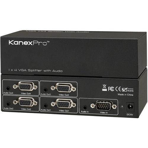 KanexPro  VGA 1 x 4 Splitter with Audio VGA1X4SP