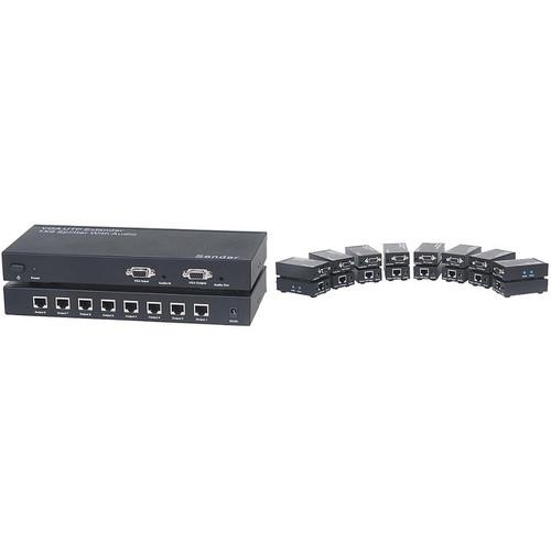 KanexPro VGA Extender over CAT5/6 with Audio (1 x 8) VGAEXTX8