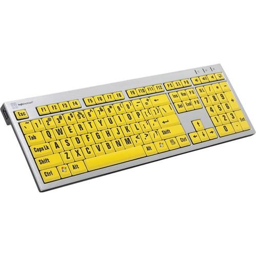LogicKeyboard XLPrint PC Slim Line Keyboard LKBU-LPRNTBY-AJPU-US