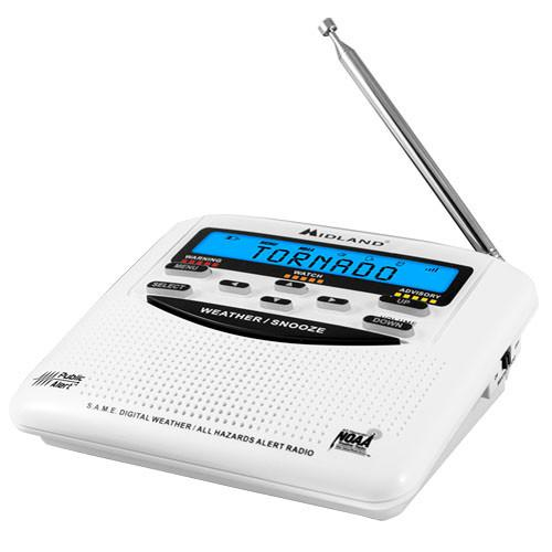 Midland WR-120 Emergency Weather Alert Radio With Alarm WR-120B