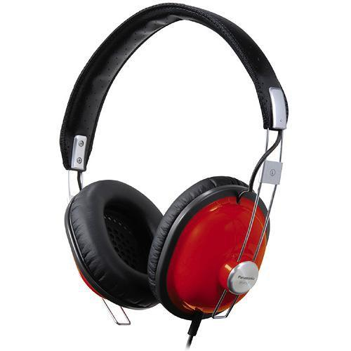 Panasonic RP-HTX7 Around-Ear Stereo Headphones (Red) RP-HTX7-R1
