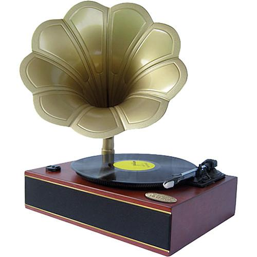 Pyle Pro Classic Horn Phonograph/Turntable with USB PNGTT1R
