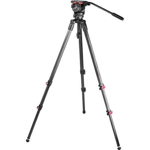 Sachtler Telescopic Tripod TT 75/2 CF with FSB 8 Fluid Head 0777