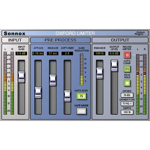 Sonnox Oxford Limiter - Limiter Plug-In (Native) LIMITERNATIVE
