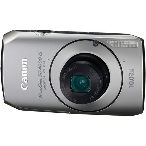 Used Canon PowerShot SD4000 IS Digital ELPH Camera 4250B003AA
