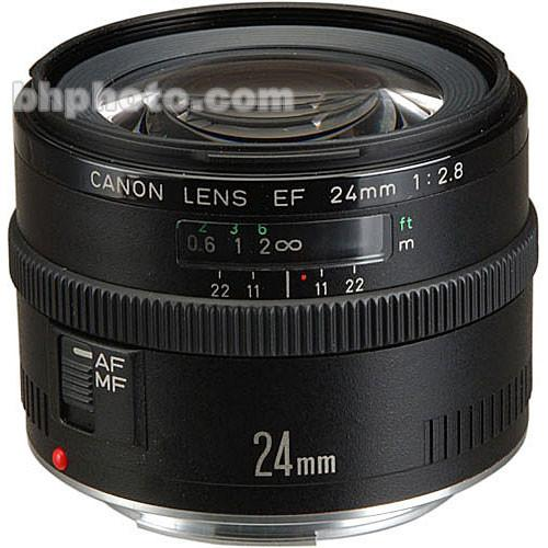 Used Canon Wide Angle EF 24mm f/2.8 Autofocus Lens 2506A007AA
