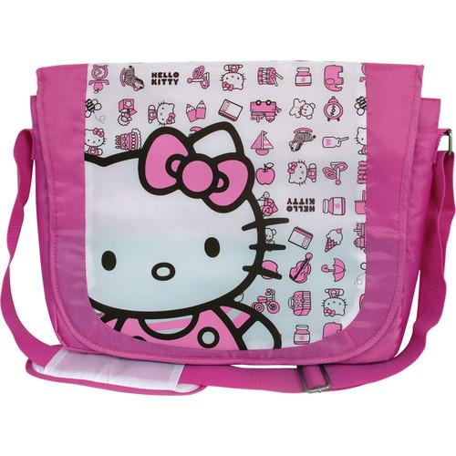 Vivitar Hello Kitty Nylon Messenger Case 20809-PNK