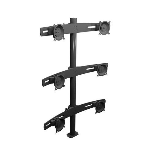 Winsted W5685 Six LCD Pole Mount, Triple Tier W5685