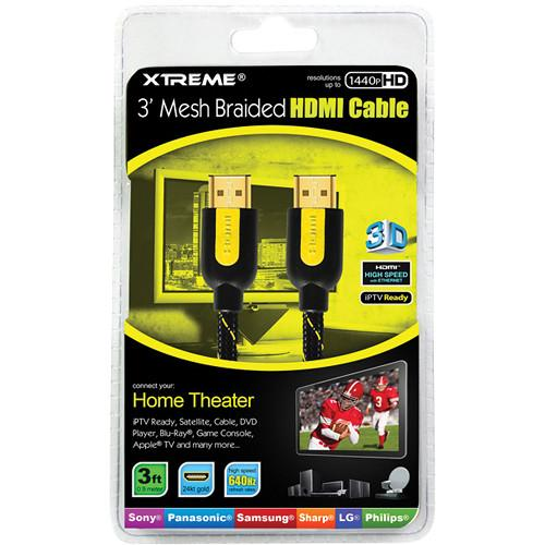 Xtreme Cables 3' High-Speed Braided HDMI Cable 84103