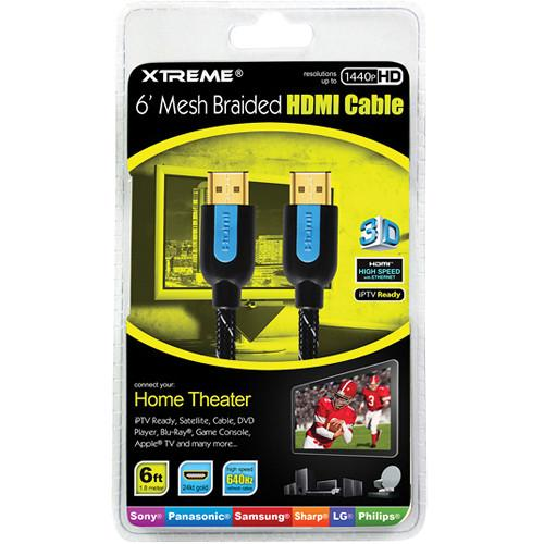 Xtreme Cables 6' High-Speed Braided HDMI Cable 84106