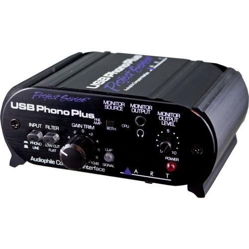 ART USB Phono Plus Phono Preamp with USB USB PHONOPLUS PS