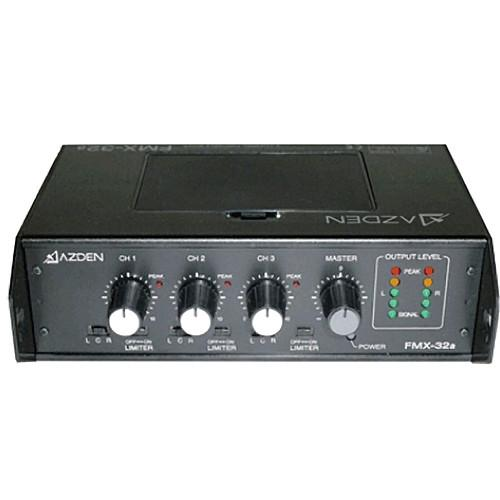 Azden FMX-32A 3-Channel Portable Field Mixer FMX-32A