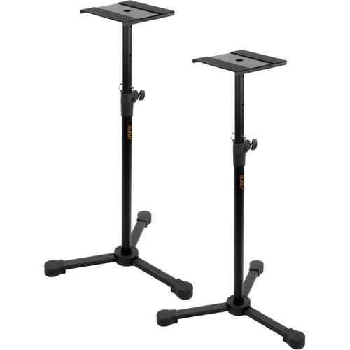 Studio Monitor Stands Kit with XLR to RCA Cables