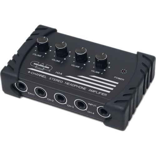 CAD HA4 Compact 4-Channel Stereo Headphone Amplifier HA4
