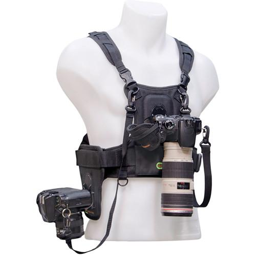 Cotton Carrier Camera Vest with Side Holster (Black) 124RTL-D