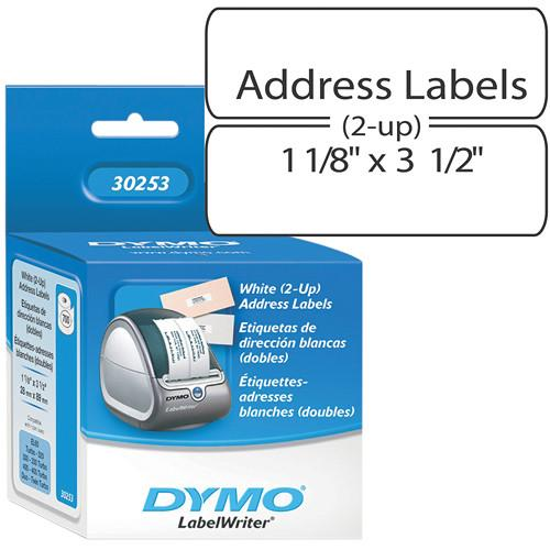 Dymo LabelWriter Address Labels White (2-up) 1 1/8 x 3 30253