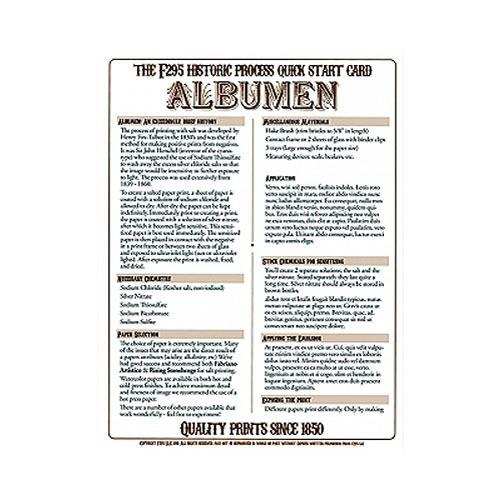 F295 Historic Process Laminated Reference Card for Albumen 29505