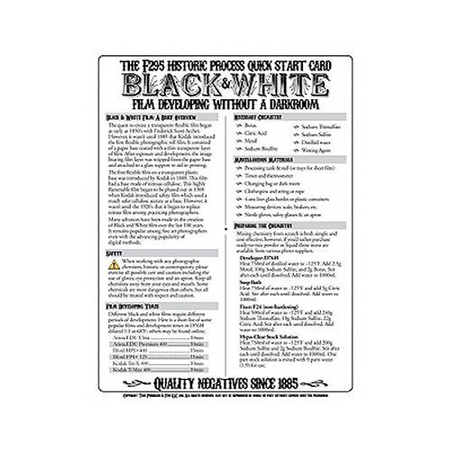 F295 Historic Process Laminated Reference Card for Black 29510