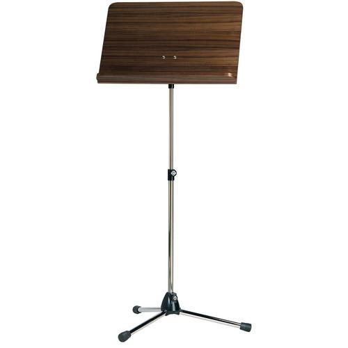 K&M 11811-000-01 Orchestra Music Stands with Walnut 11811-000-01