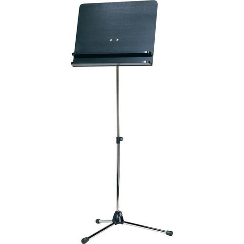 K&M Orchestra Nickel Music Stand with Black Wooden 11832-000-01