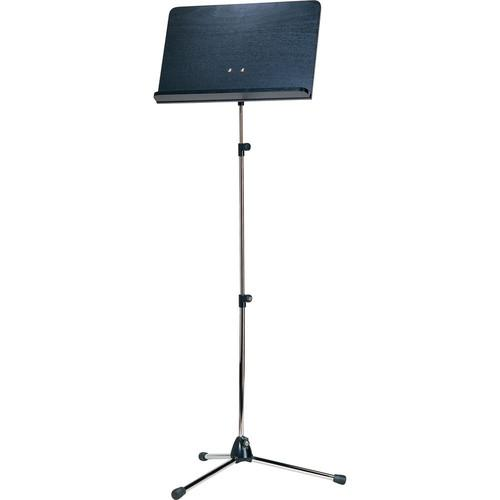 K&M Orchestra Nickel Music Stand with Black Wooden 11842-000-01
