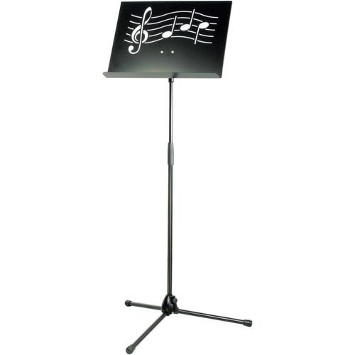 K&M Symphony Black Music Stand with Steel Desk 11865-000-55