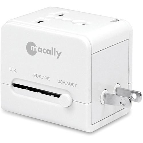 Macally Universal Power Plug Adapter with USB Charger LP-PTCII