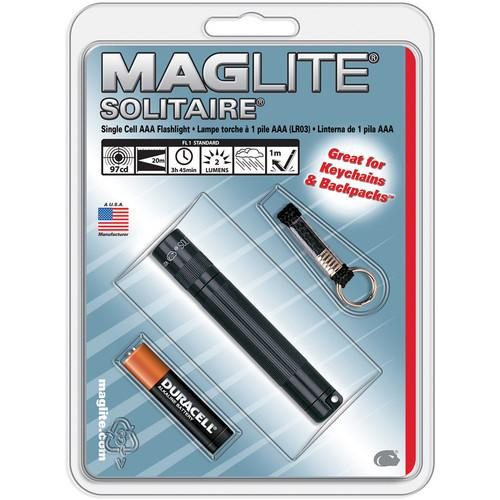 Maglite Solitaire 1-Cell AAA Flashlight (Black) K3A016
