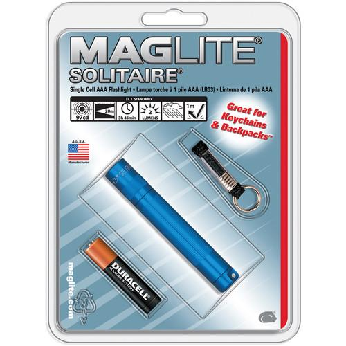 Maglite Solitaire 1-Cell AAA Flashlight (Blue) K3A116