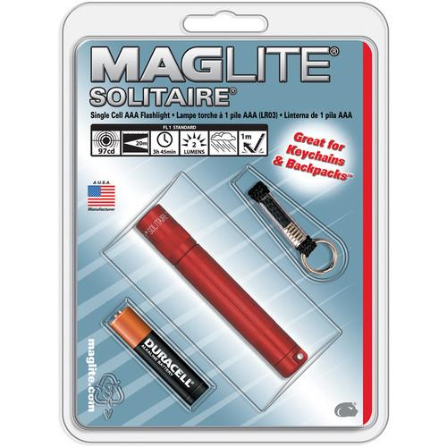 Maglite Solitaire 1-Cell AAA Flashlight (Red) K3A036