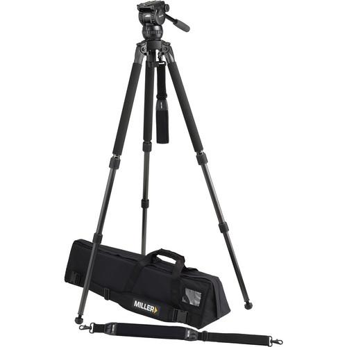 Miller Solo DV 2-Stage Carbon Fiber Tripod with Compass 12 1870