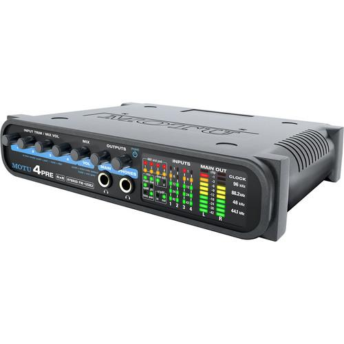 MOTU 4pre - Compact Hybrid FireWire/USB Audio Interface 8460