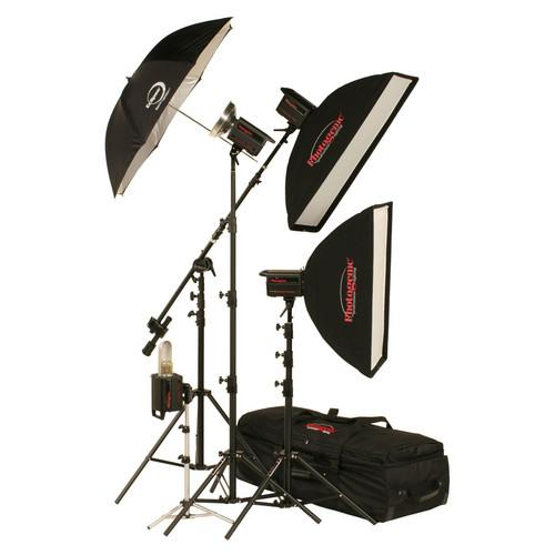 Photogenic 1,500W/s PowerLight 4 Light Studio Kit (120V) 900060