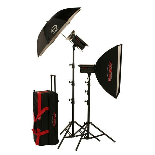 Photogenic 2,000W/s PowerLight Digital Travel Kit (120V) 900050