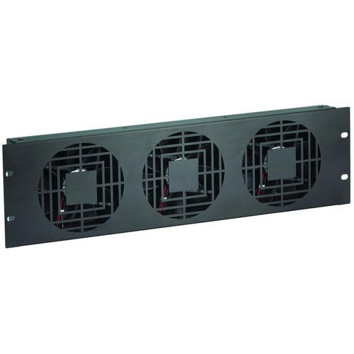 Raxxess NAF33HBA 3 U High Flow Triple Fan Panel NAF33HBA